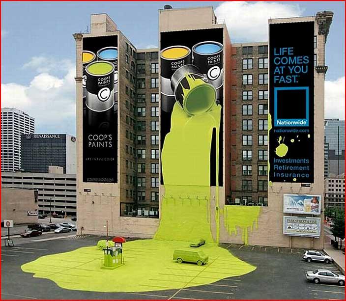 פרסומת יצירתית על בתים