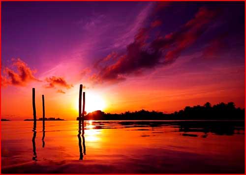 ערב ליד הים