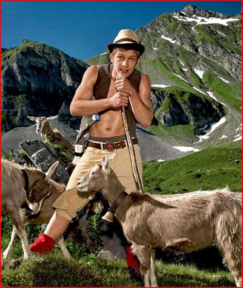 חקלאיים משווייץ מצטלמים למגזין