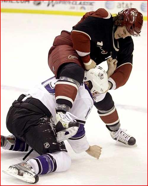 קטטות במשחקי הוקי קרח