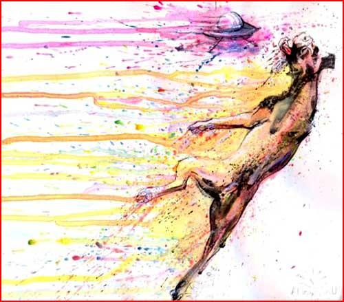 """ציוריו של האמן בשם """"לורה שמונה"""""""