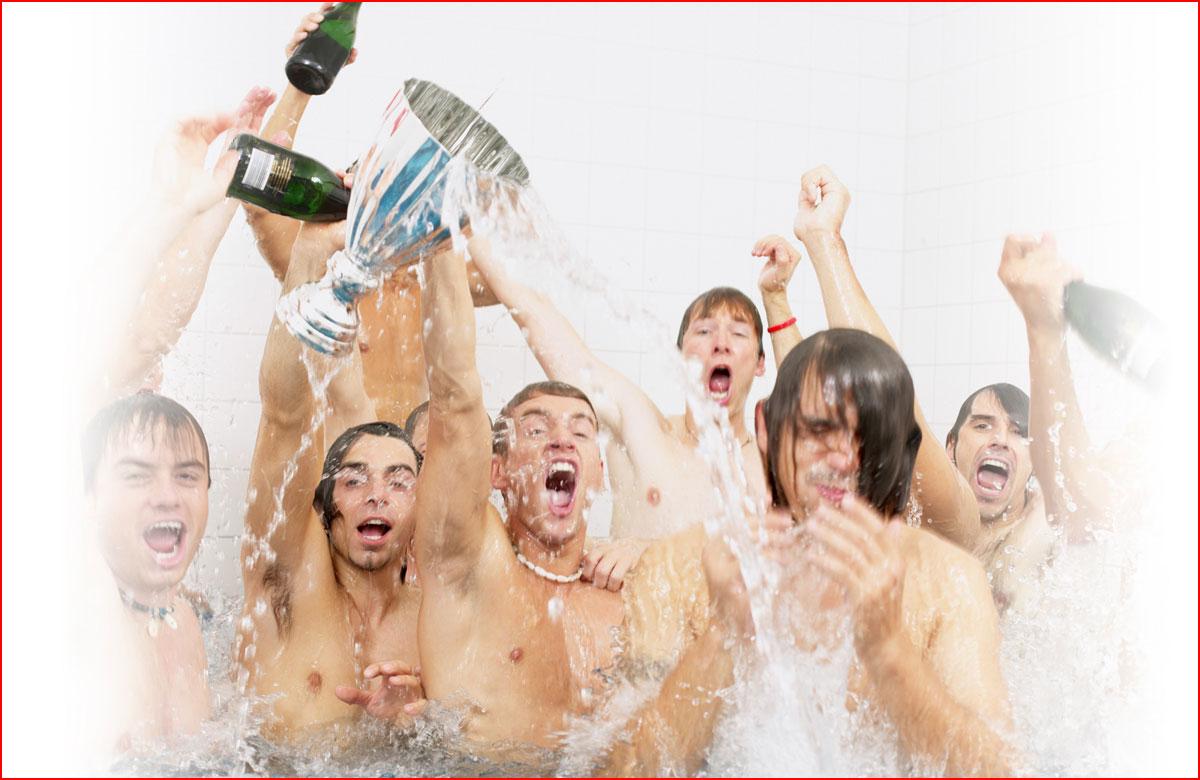 מקלחת של שמפניה