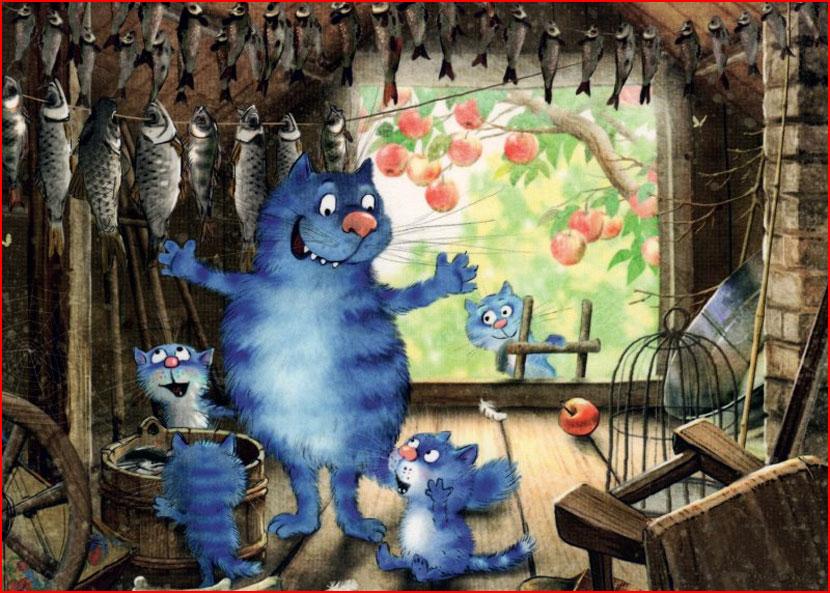 חתולים כחולים של אירינה זניוק מבלרוס