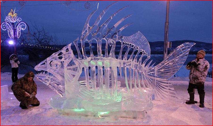 פסלי הקרח