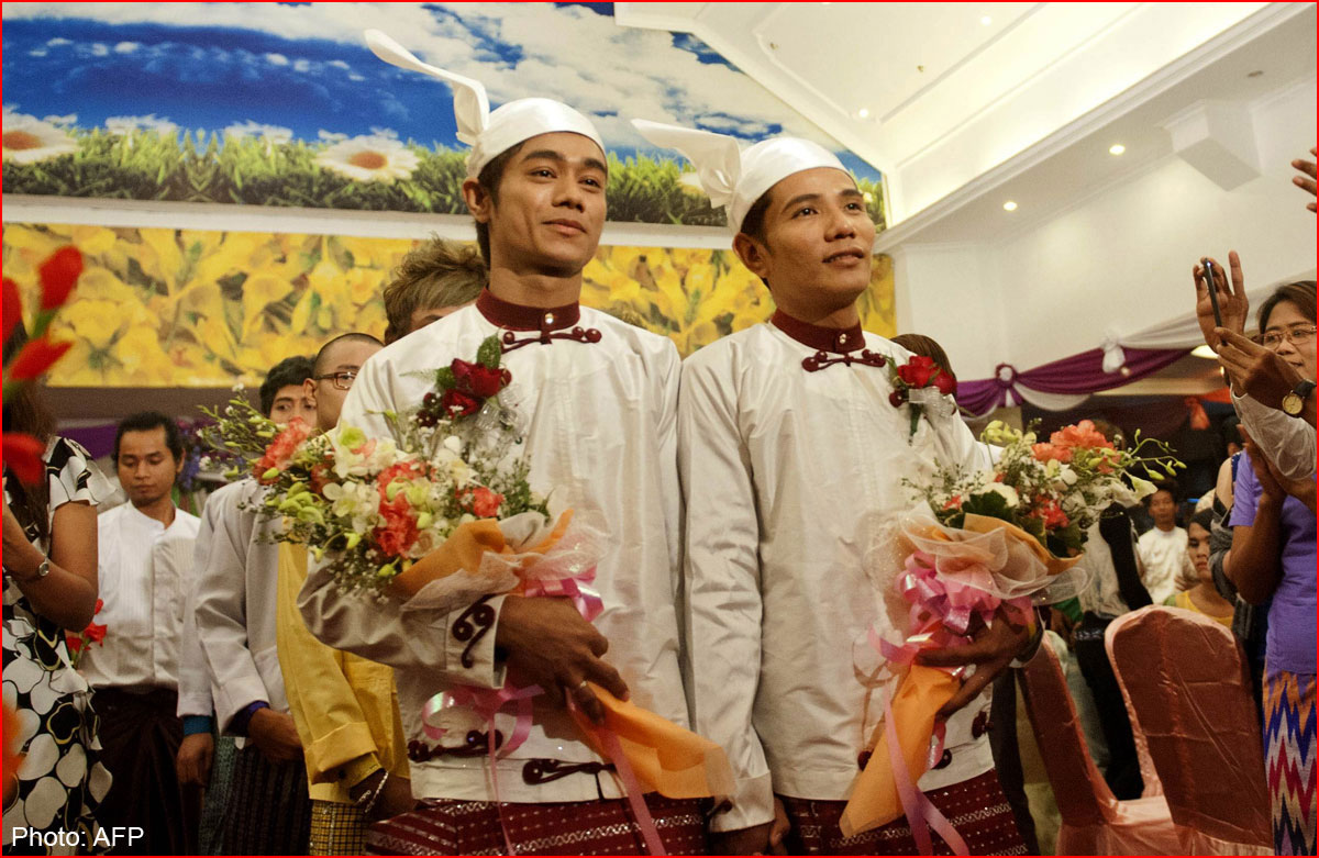 חתונה הגאה הראשונה במיאנמר