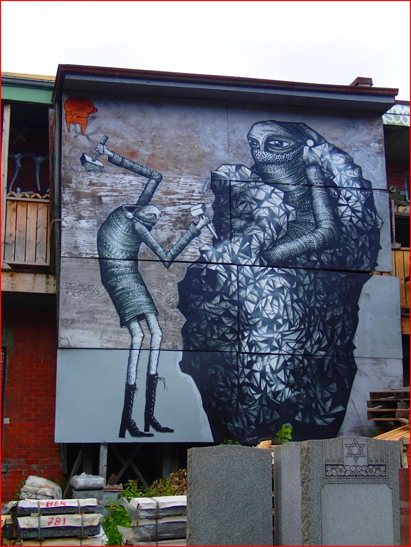 גרפיטי ברחובות מונטריאול, קנדה