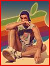 יוהן אקהן הצטלם בפרסום בסגנון שנות ה-80