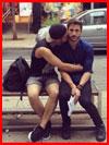 נשיקה ברחוב