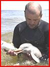 גבר מאורוגוואי הציל את גור הדולפין (10 תמונות)