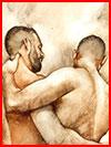 ציור של זוג הגברים